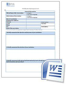 IFIA membership request form