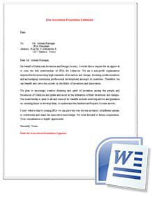 IFIA membership request letter