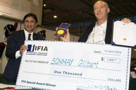 Національність: Suisse, винахідник: Sonnay Gilbert, винахід: Апарат для очищення питної води, Женева 2016
