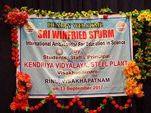 welcome-poster in Indian school