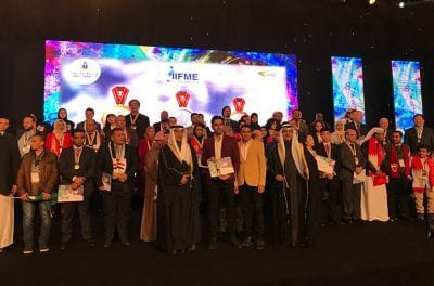 The winners of IIFME 2018 Award Ceremony