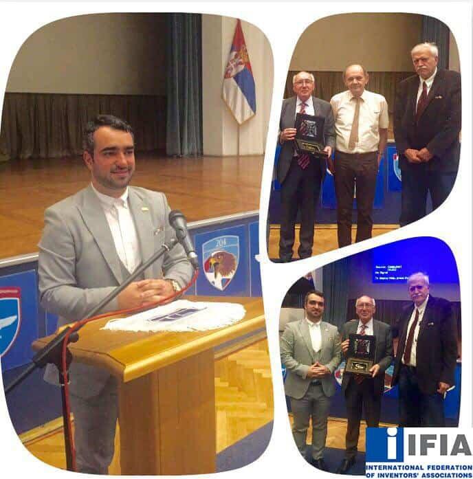 IFIA Representative, Mr. Masoud Tajbaksh in Belgrade 35th International Exhibition of Inventions