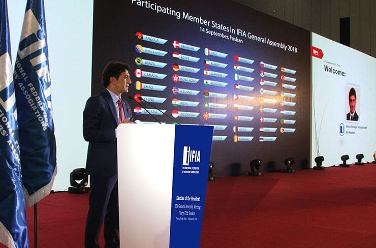 Alireza Rastegar is re-elected as IFIA President for 2018- 2022