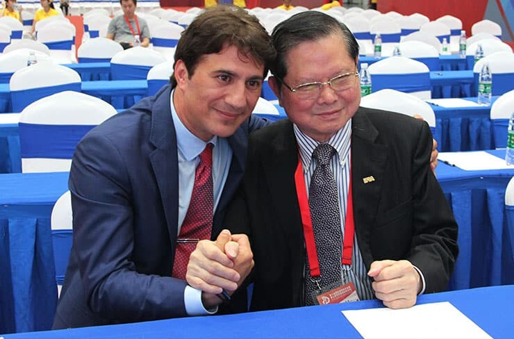 Mr. Wu Kou-Chen, the chairman of Chinese Innovation and Invention Society in IFIA General Assembly
