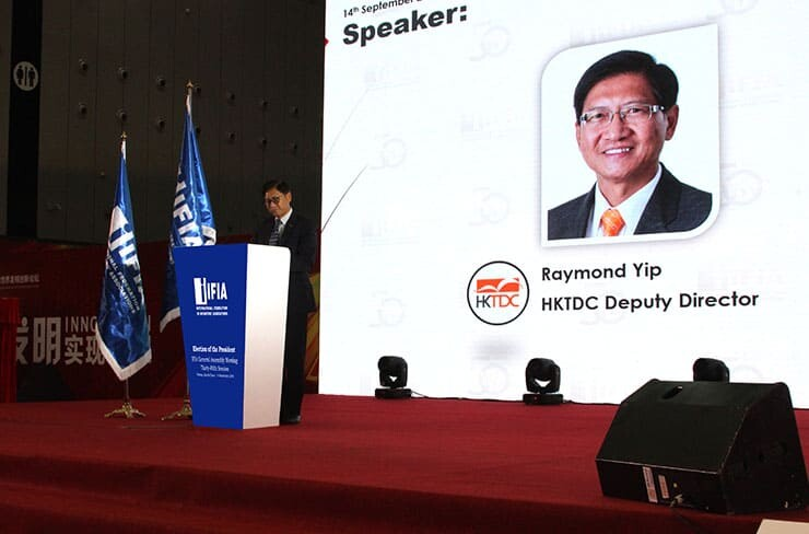 Mr Raymond Yip- HKTDC Deputy Executive Director - in IFIA General Assembly 2018