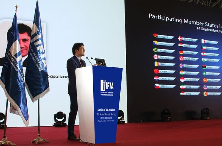 Alireza Rastegar, IFIA Presidency Candidate in General Assembly 2018, held in Foshan, China