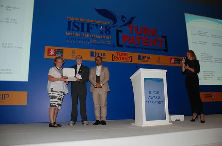 IFIA's Best Academic Invention Medal was granted to Mutlu AYTEMİR, Berrin OZCELIK, Erdogan Orhan ILKAY, Gulsah KARAKAYA, Senol SEZER from HACETTEPE TECHNOPARK TECHNOLOGY TRANSFER OFFICE(HT-TTM), TURKEY