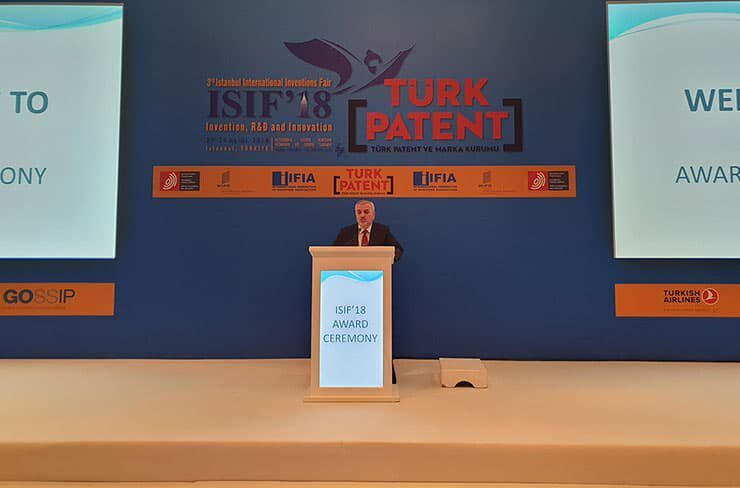 Dr. Habip Asan, Turkish Patent Office President in ISIF 2018 award ceremony