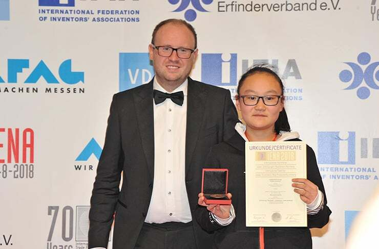 Young inventor prize winner in iENA 2018