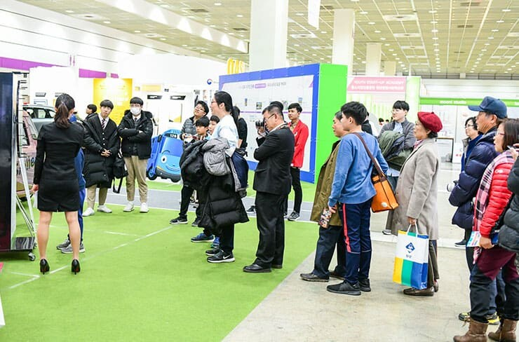 Visitors in Seoul International Invention Fair 2018