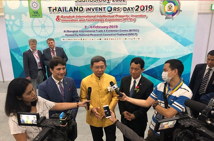 Interviewers in Thailand Inventor's Day 2019