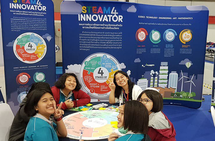 Young girl innovators participating in 2019 IPITEX