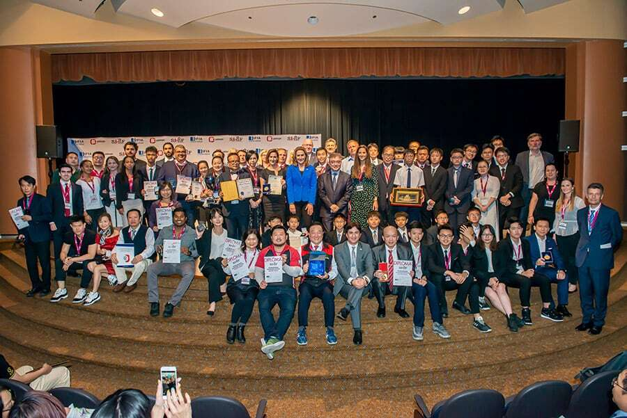 Group Photo in Award Ceremony of the Silicon Valley International Invention Festival (SVIIF 2019)
