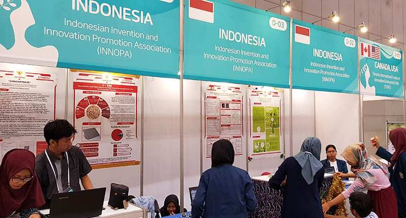 Indonesia Booth in Korea International Women's Invention Exposition 2019