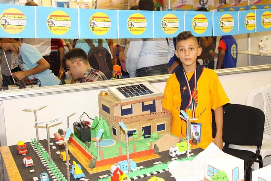 Syrian Innovators Kids at the Exhibition