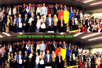 Ceremonia wręczenia nagród, zdjęcie grupowe, iCAN 2019, Toronto, Kanada