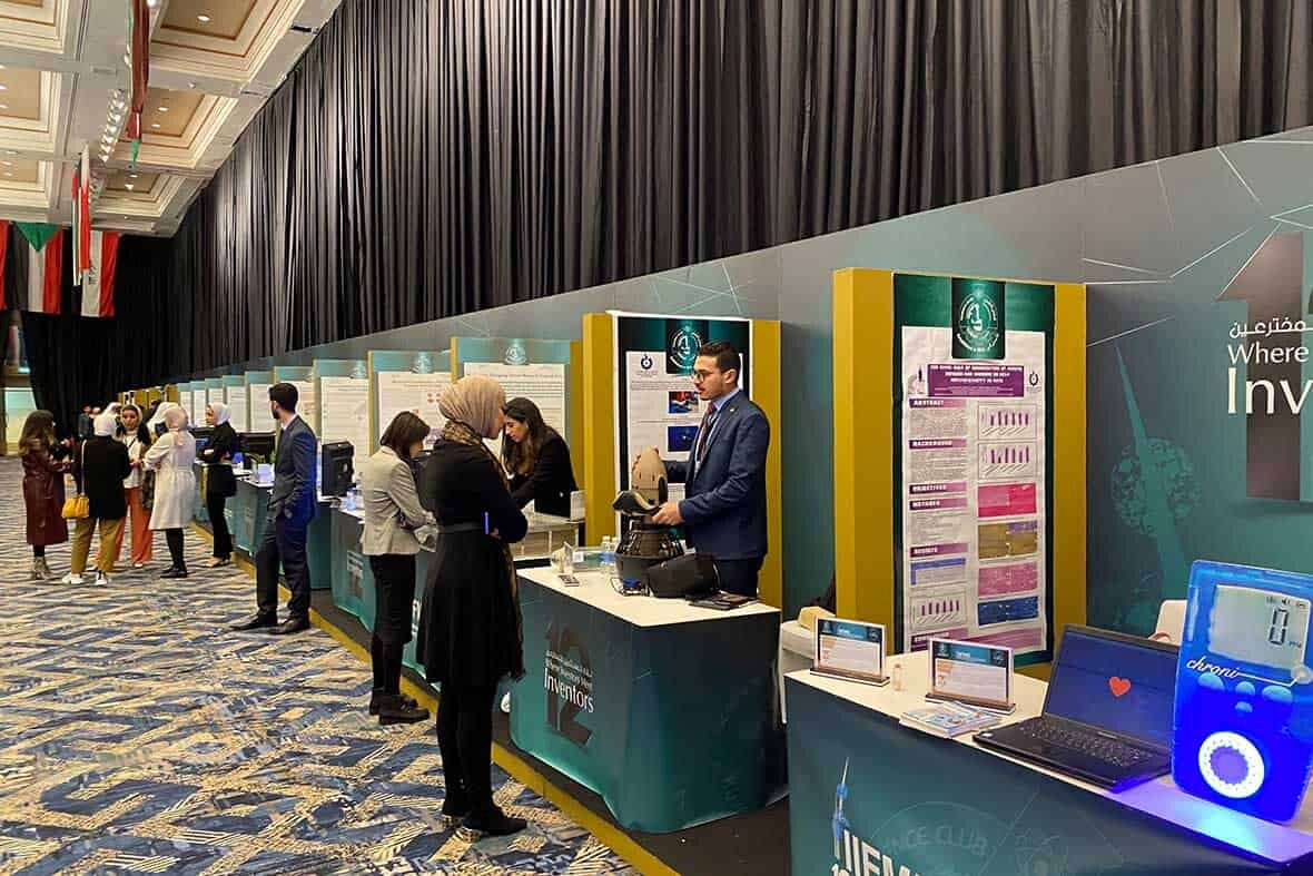 Visiting the showcased inventions in IIFME 2020